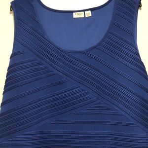 Cato electric blue tank top size 22/24W